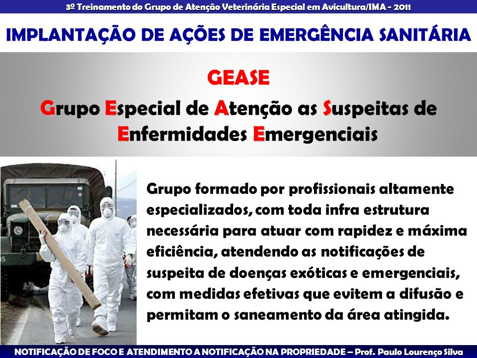 IMPLANTAÇÃO DE AÇÕES DE EMERGÊNCIA SANITÁRIA