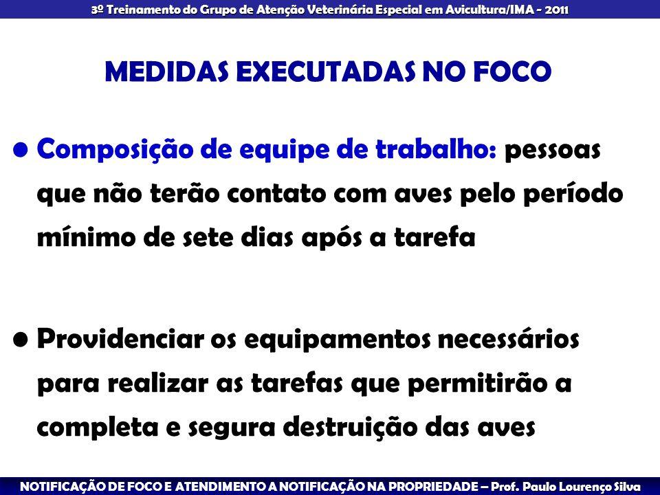 MEDIDAS EXECUTADAS NO FOCO