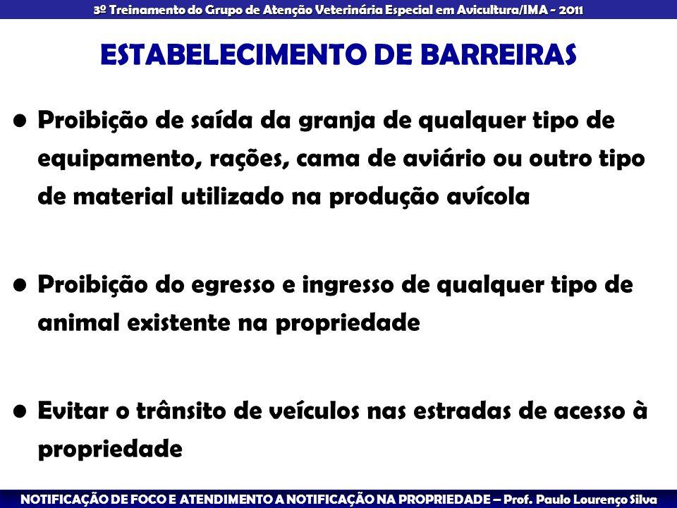 ESTABELECIMENTO DE BARREIRAS