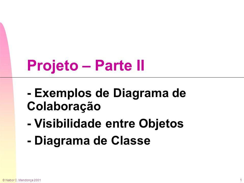 Projeto – Parte II - Exemplos de Diagrama de Colaboração