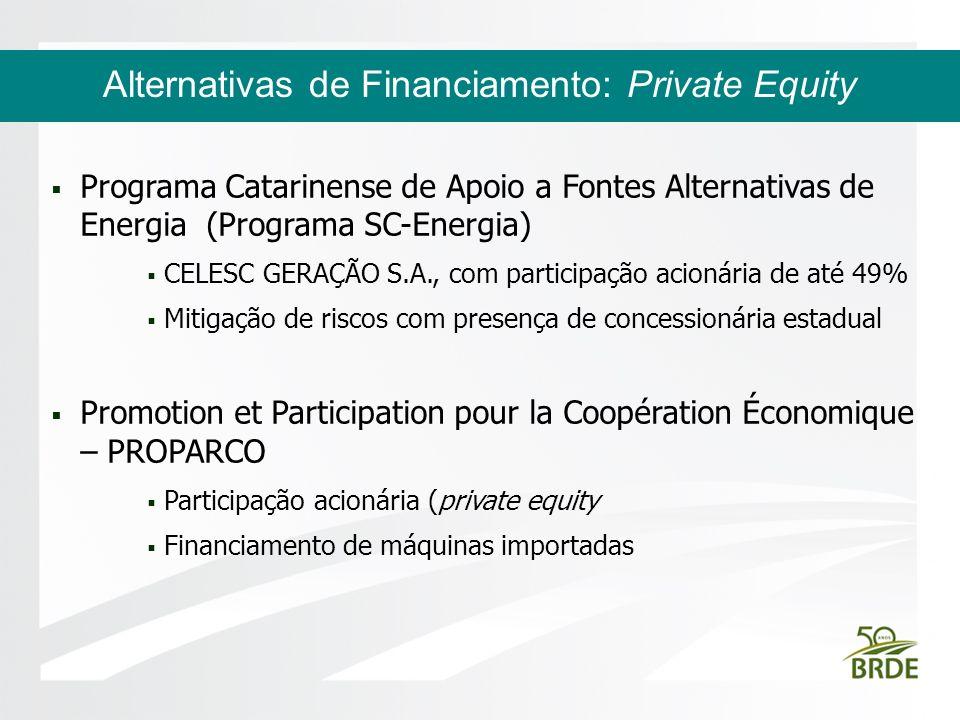 Alternativas de Financiamento: Private Equity