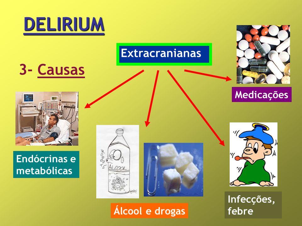 DELIRIUM 3- Causas Extracranianas Medicações Endócrinas e metabólicas