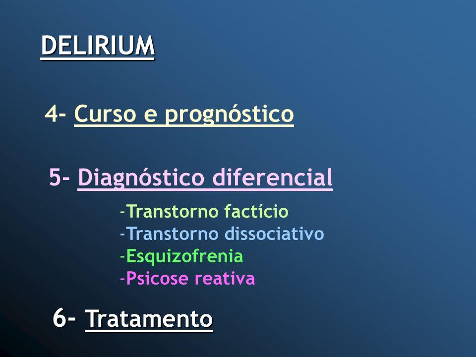 DELIRIUM 6- Tratamento 4- Curso e prognóstico