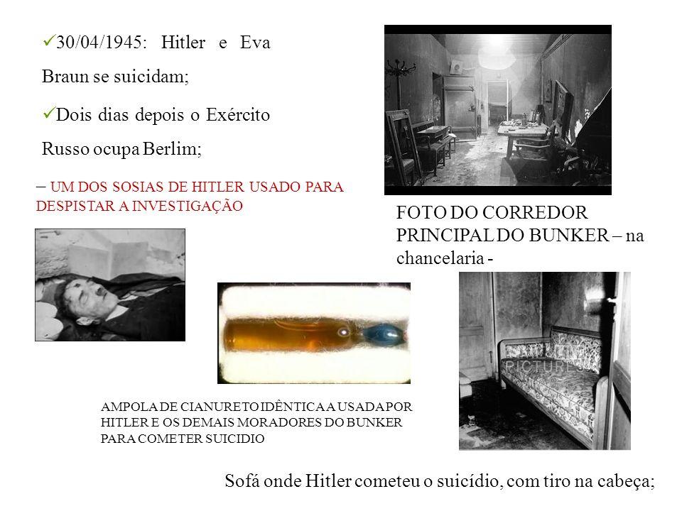 30/04/1945: Hitler e Eva Braun se suicidam;