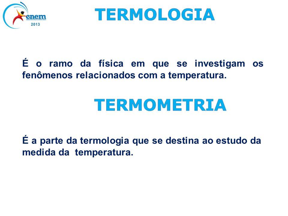 TERMOMETRIA TERMOLOGIA