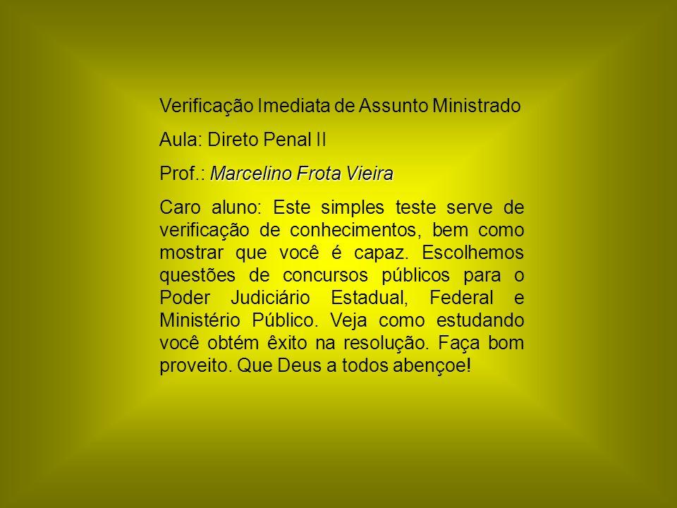 Verificação Imediata de Assunto Ministrado