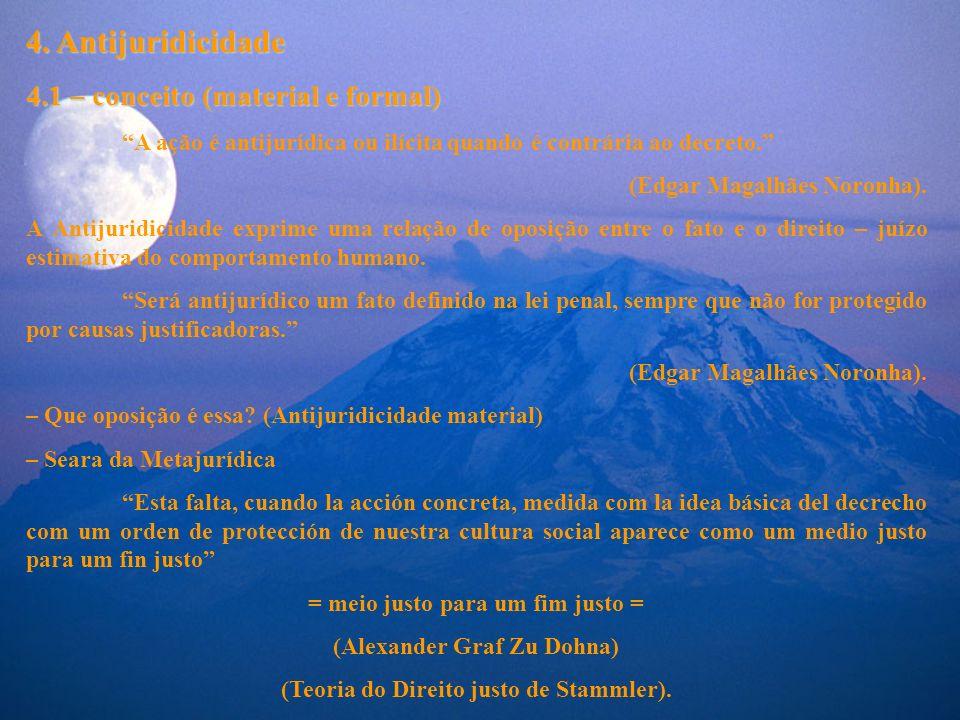 4. Antijuridicidade 4.1 – conceito (material e formal)