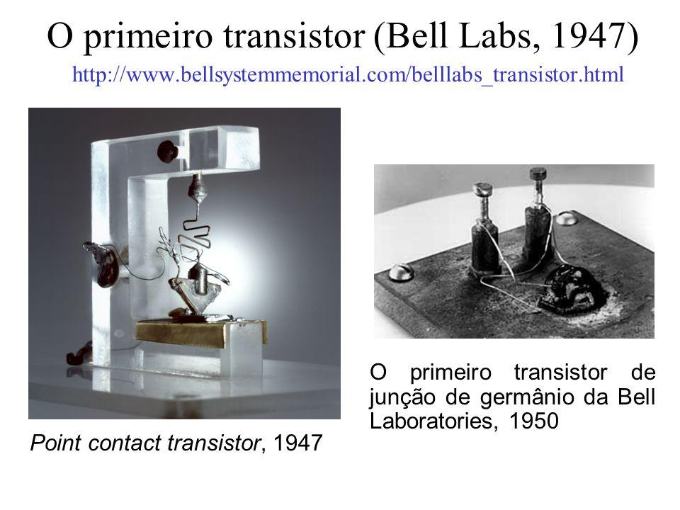 O primeiro transistor (Bell Labs, 1947) http://www. bellsystemmemorial