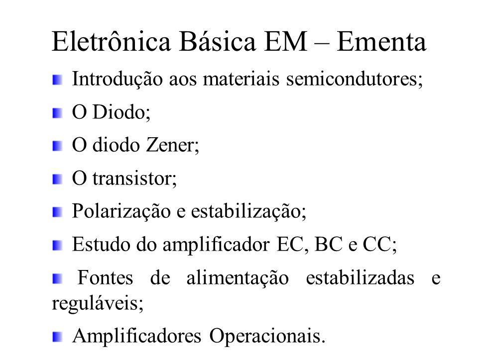 Eletrônica Básica EM – Ementa