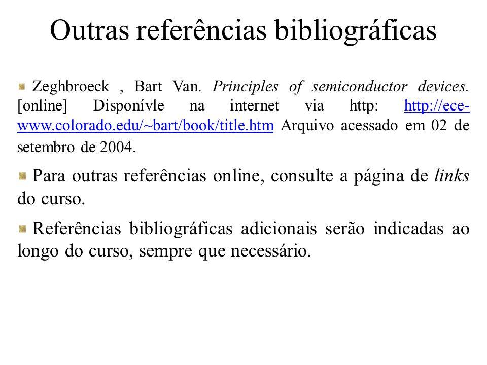 Outras referências bibliográficas