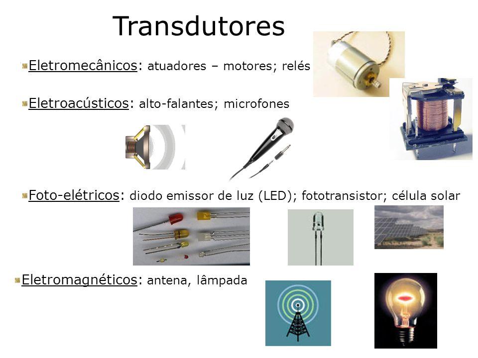 Transdutores Eletromecânicos: atuadores – motores; relés