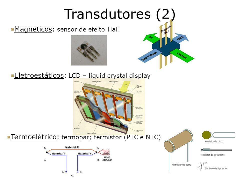 Transdutores (2) Magnéticos: sensor de efeito Hall