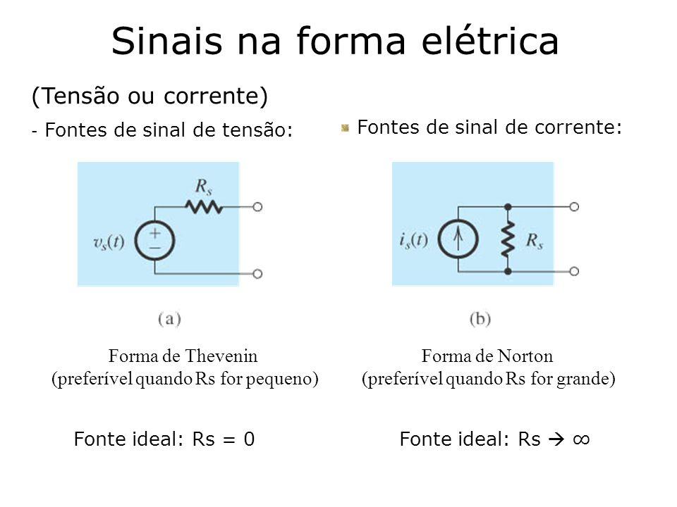 Sinais na forma elétrica