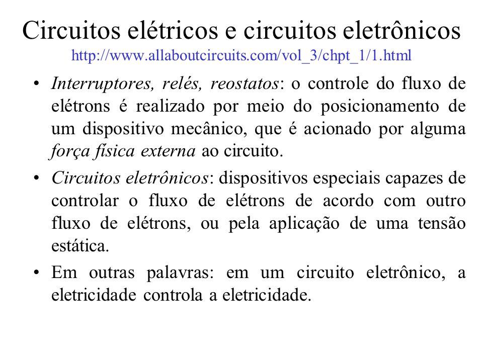 Circuitos elétricos e circuitos eletrônicos http://www