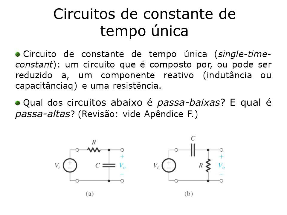Circuitos de constante de tempo única