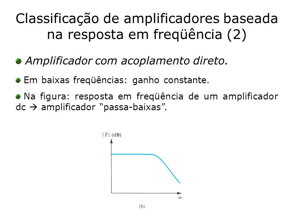 Classificação de amplificadores baseada na resposta em freqüência (2)