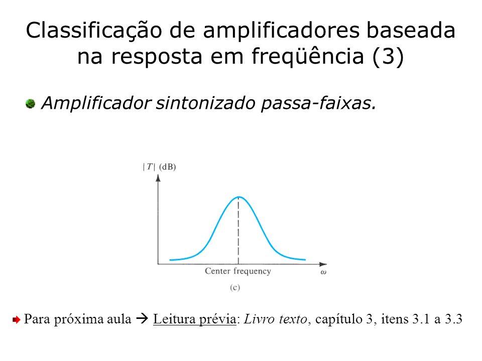 Classificação de amplificadores baseada na resposta em freqüência (3)