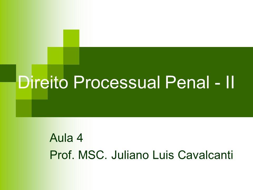 Direito Processual Penal - II