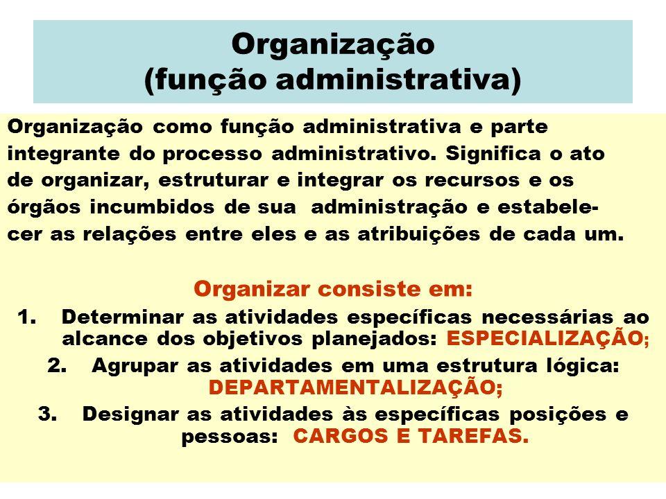 Organização (função administrativa)