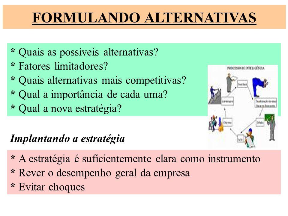 FORMULANDO ALTERNATIVAS