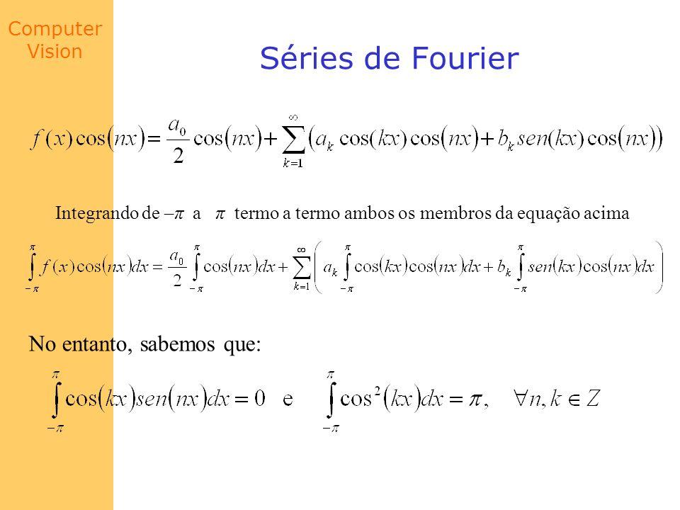 Séries de Fourier No entanto, sabemos que: