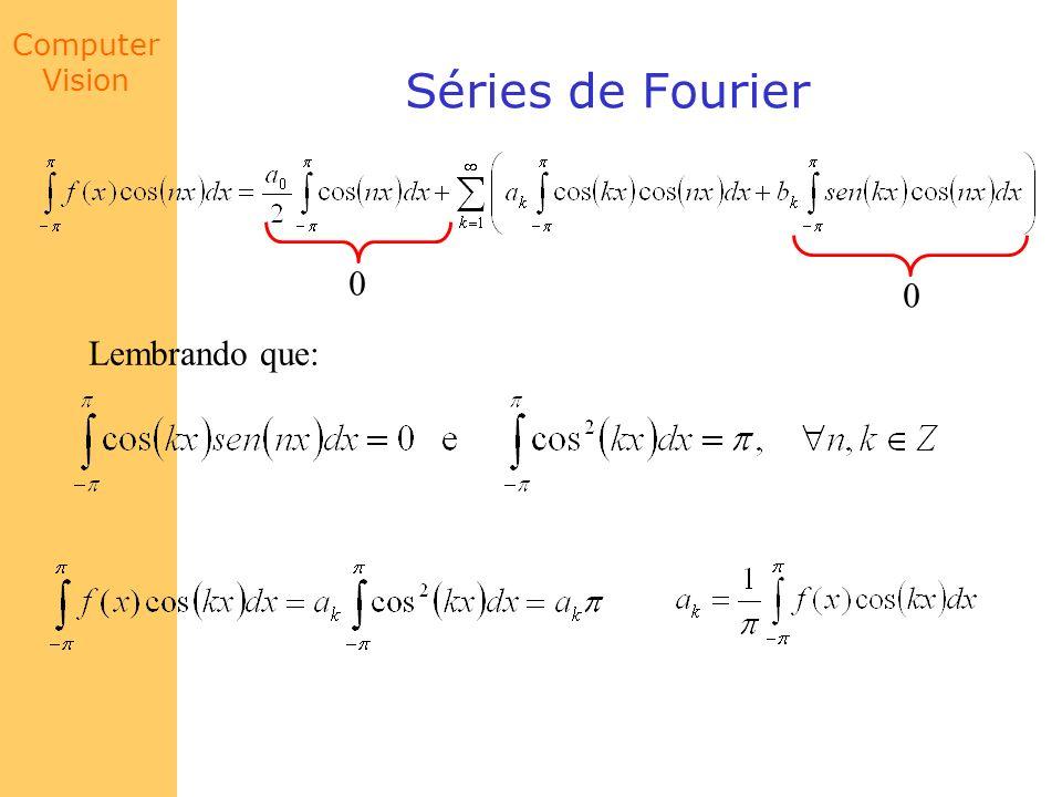Séries de Fourier Lembrando que: