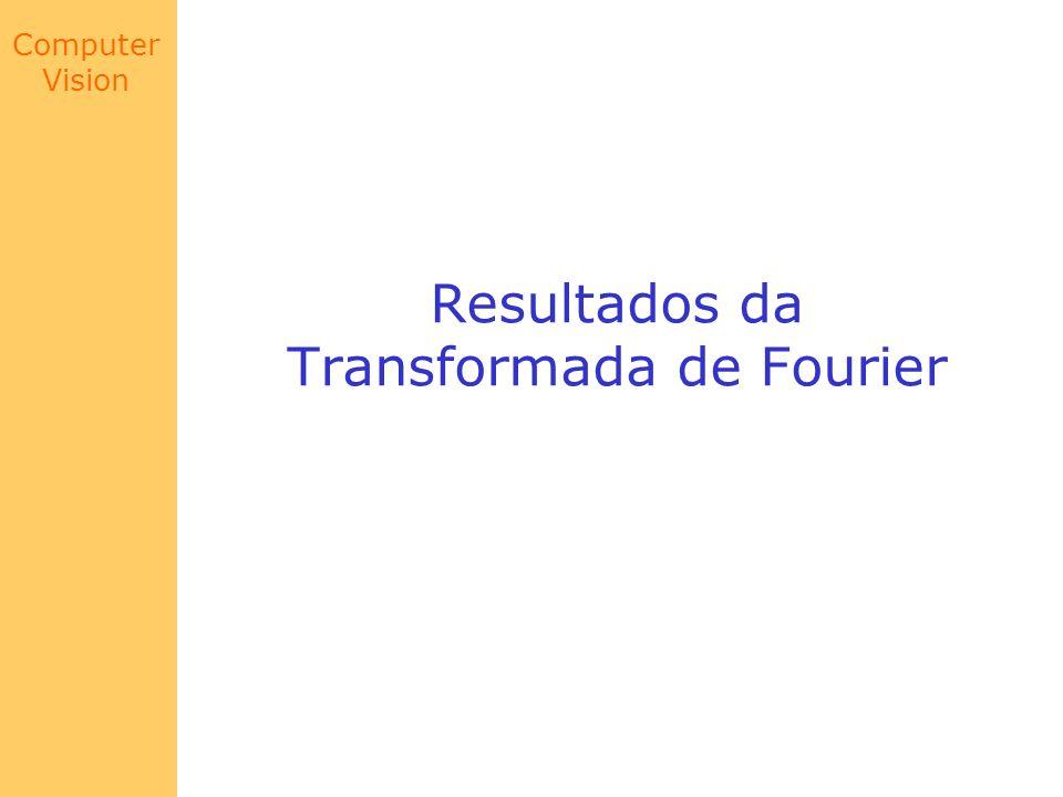 Resultados da Transformada de Fourier