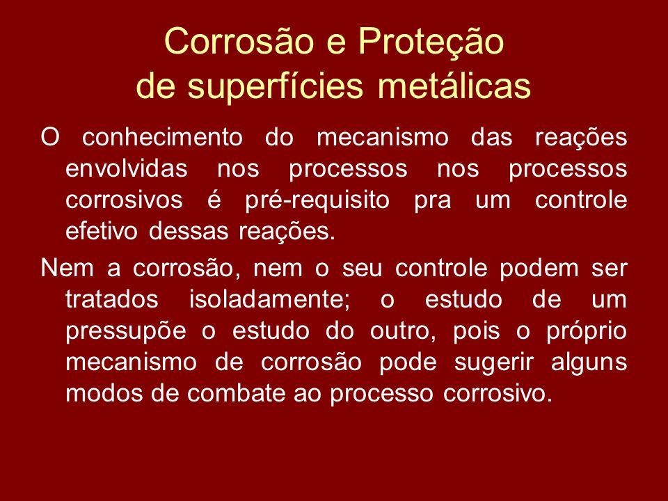 Corrosão e Proteção de superfícies metálicas