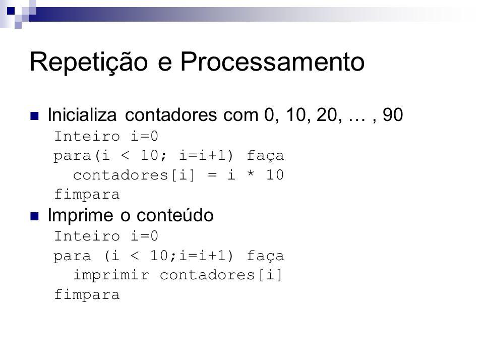 Repetição e Processamento