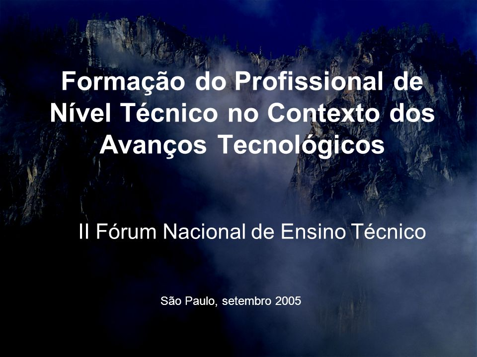 II Fórum Nacional de Ensino Técnico
