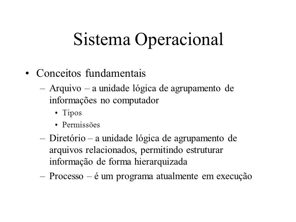 Sistema Operacional Conceitos fundamentais