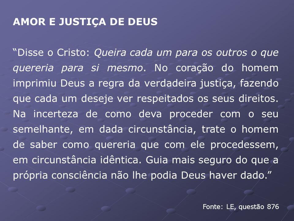 AMOR E JUSTIÇA DE DEUS