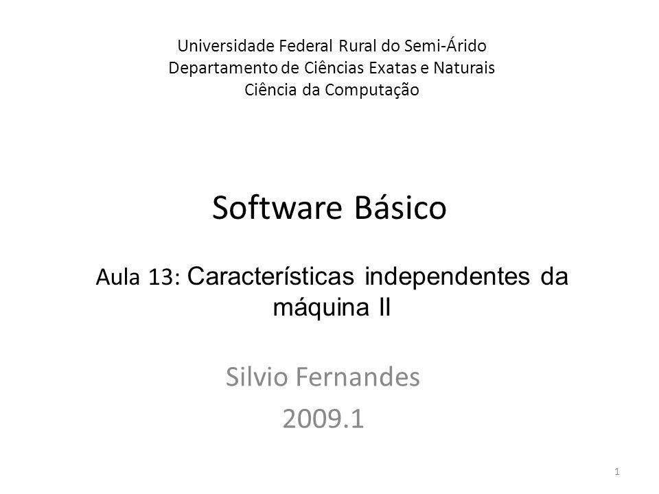 Software Básico Silvio Fernandes 2009.1