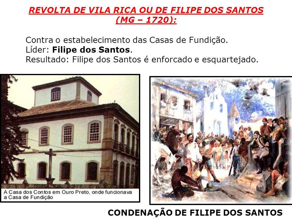 REVOLTA DE VILA RICA OU DE FILIPE DOS SANTOS