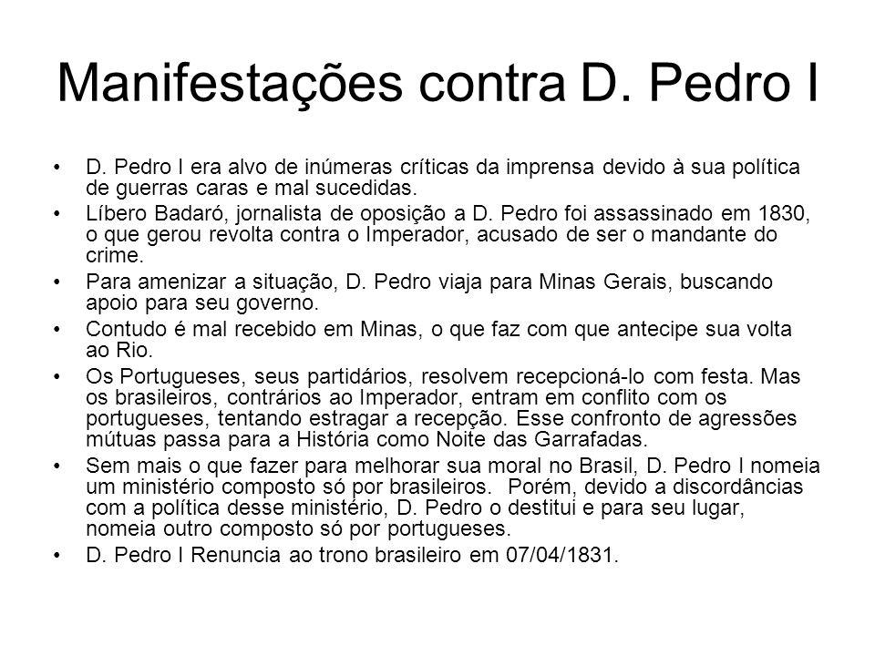 Manifestações contra D. Pedro I