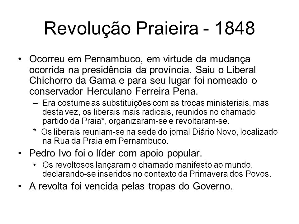 Revolução Praieira - 1848