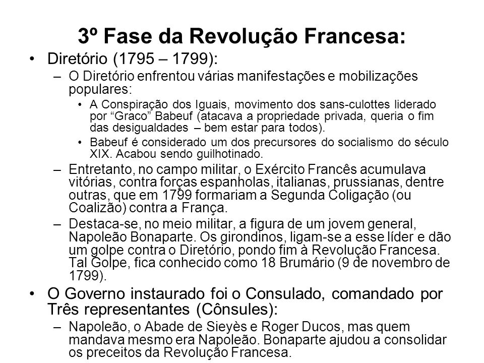 3º Fase da Revolução Francesa: