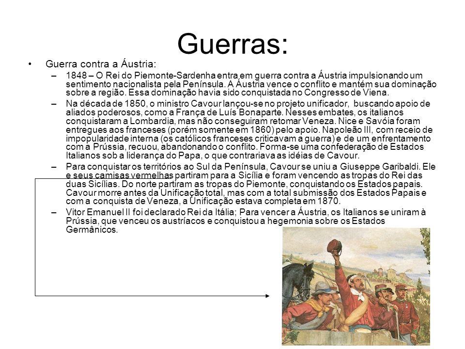 Guerras: Guerra contra a Áustria: