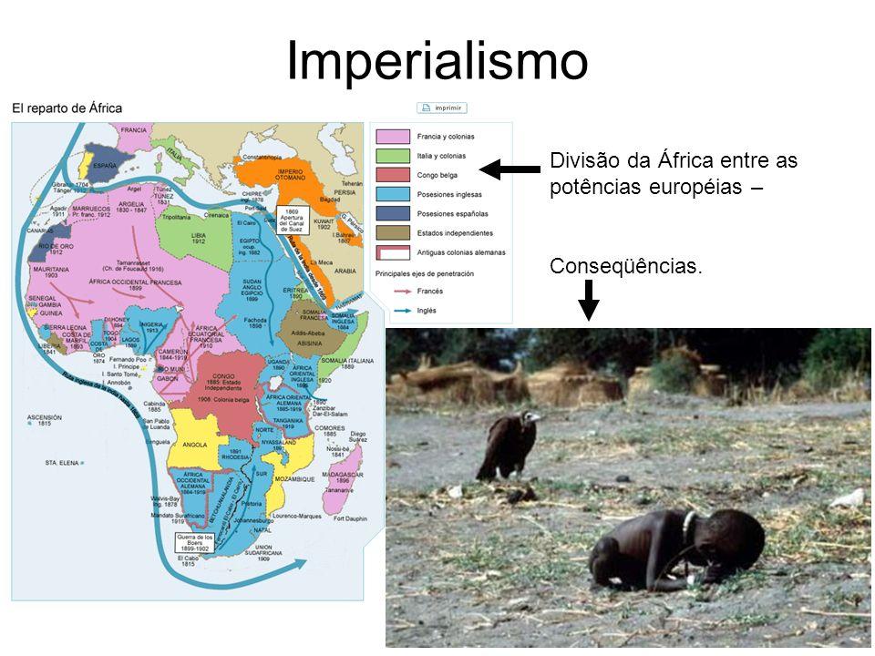 Imperialismo Divisão da África entre as potências européias –