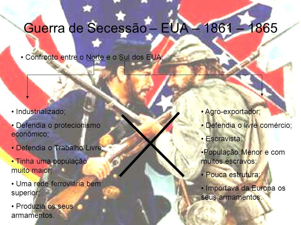 Guerra de Secessão – EUA – 1861 – 1865
