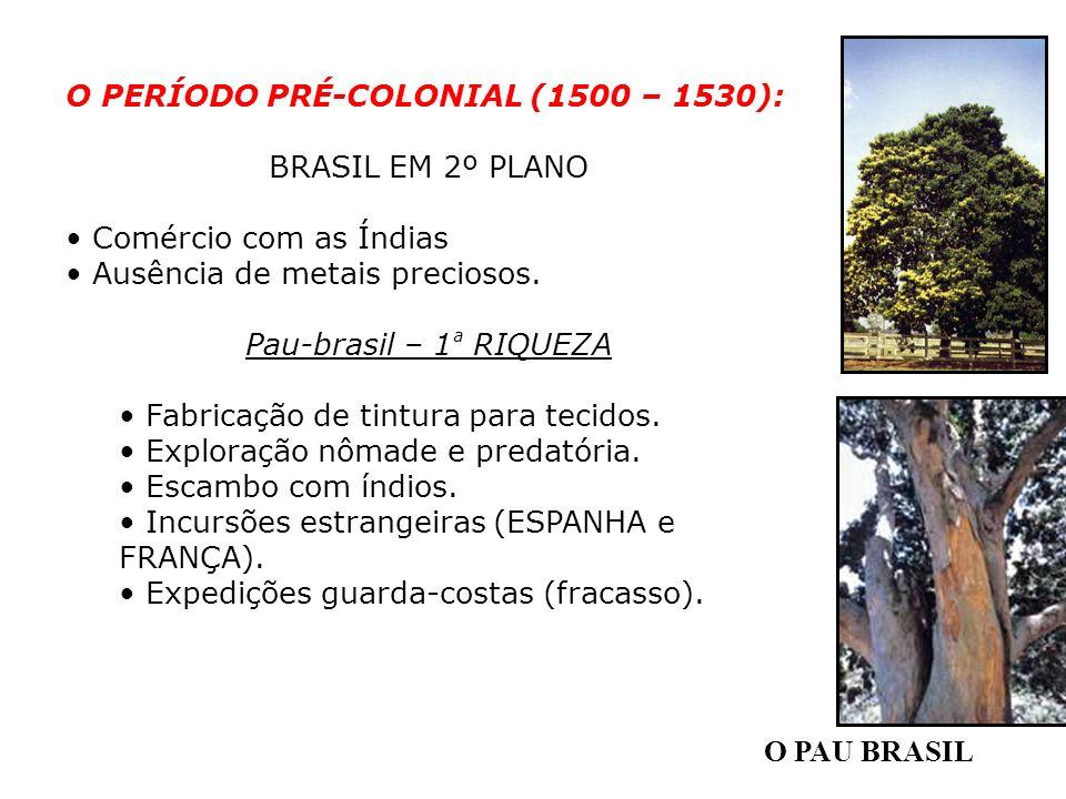 O PERÍODO PRÉ-COLONIAL (1500 – 1530):