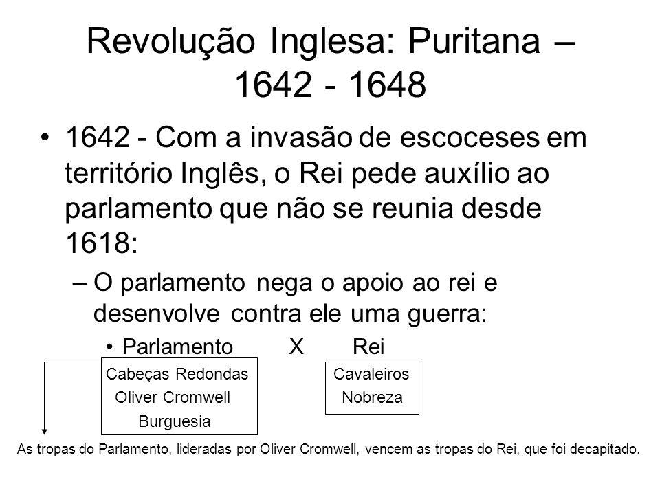 Revolução Inglesa: Puritana – 1642 - 1648
