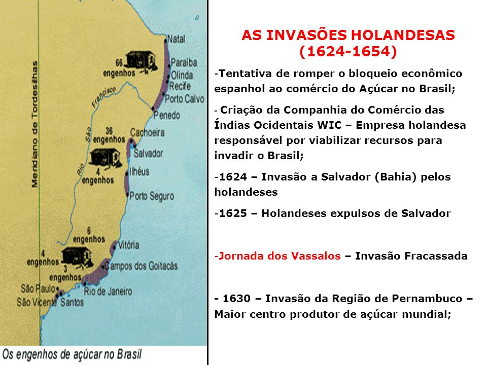 AS INVASÕES HOLANDESAS (1624-1654)