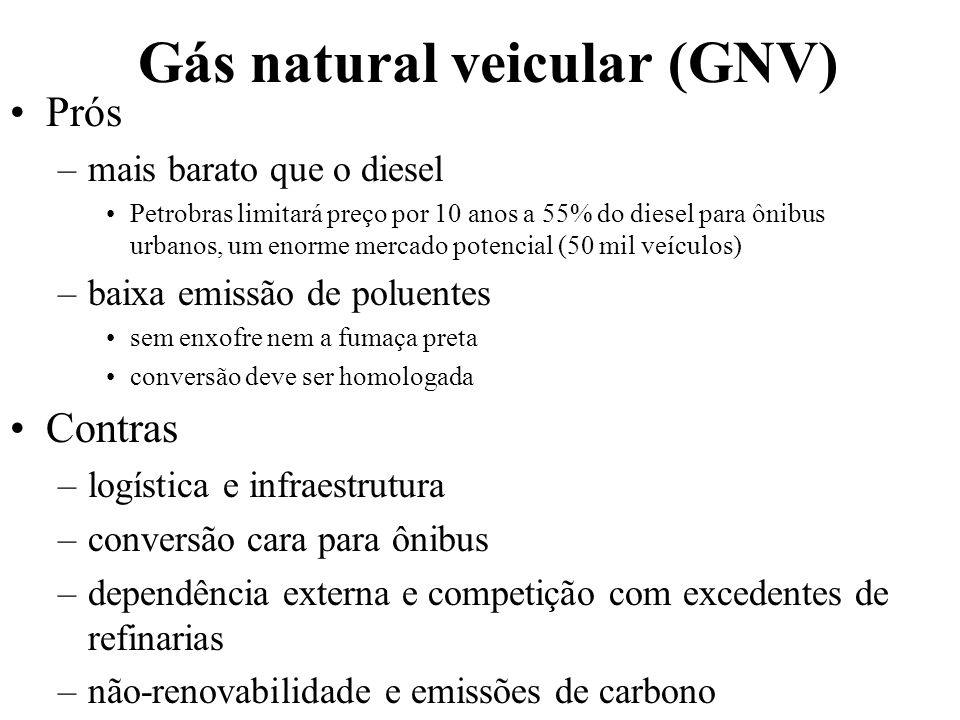Gás natural veicular (GNV)