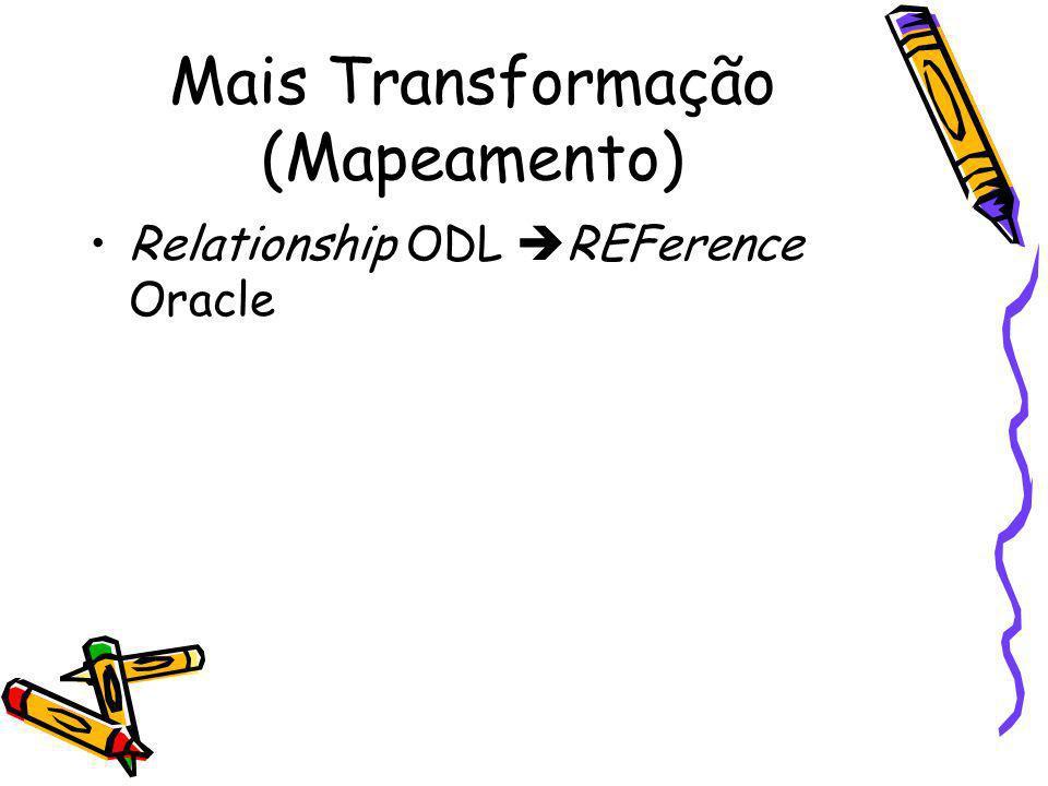Mais Transformação (Mapeamento)