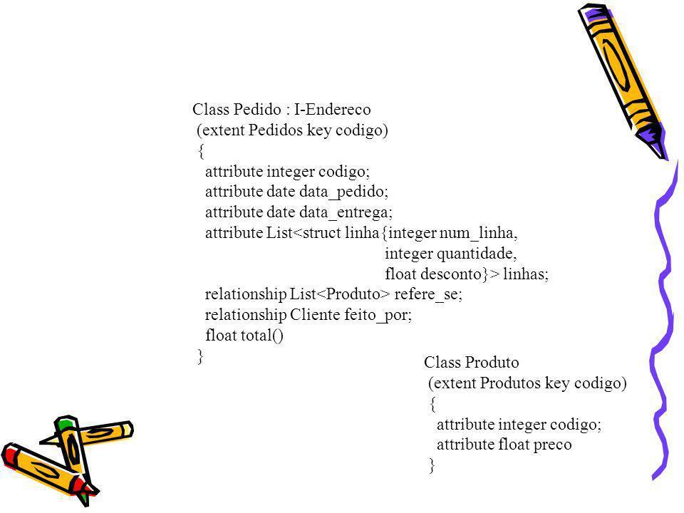 Class Pedido : I-Endereco