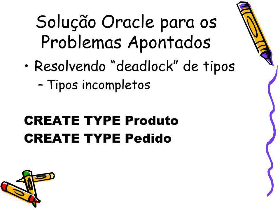 Solução Oracle para os Problemas Apontados