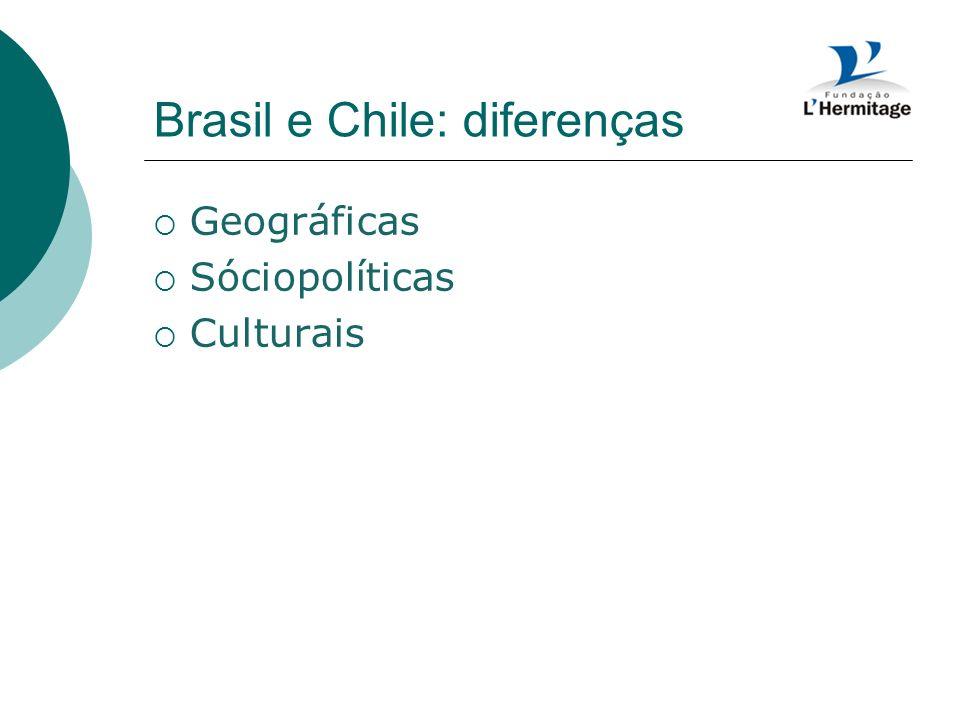 Brasil e Chile: diferenças
