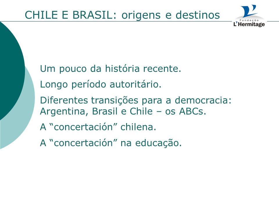 CHILE E BRASIL: origens e destinos