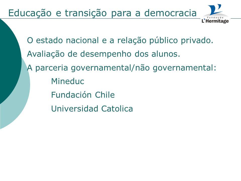 Educação e transição para a democracia